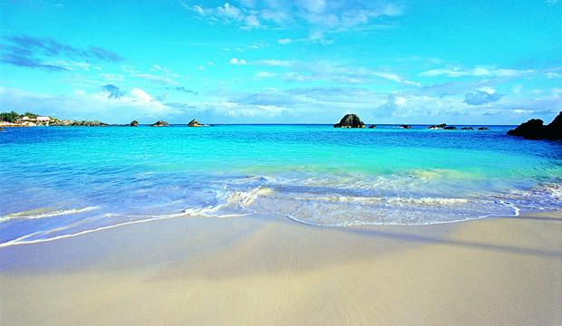 Sandstrand på Bermuda