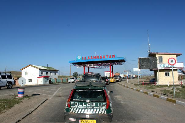 Ankomst til Ulaanbaatar - kilometertælleren endte på omkring 17.000.