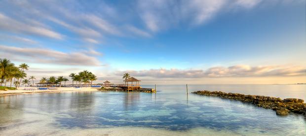 Strand på Bahamas